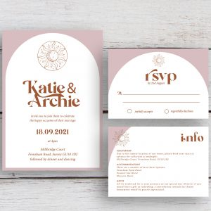 Skye Boho Arched Wedding Invitation Suite | Flamboyant Invites