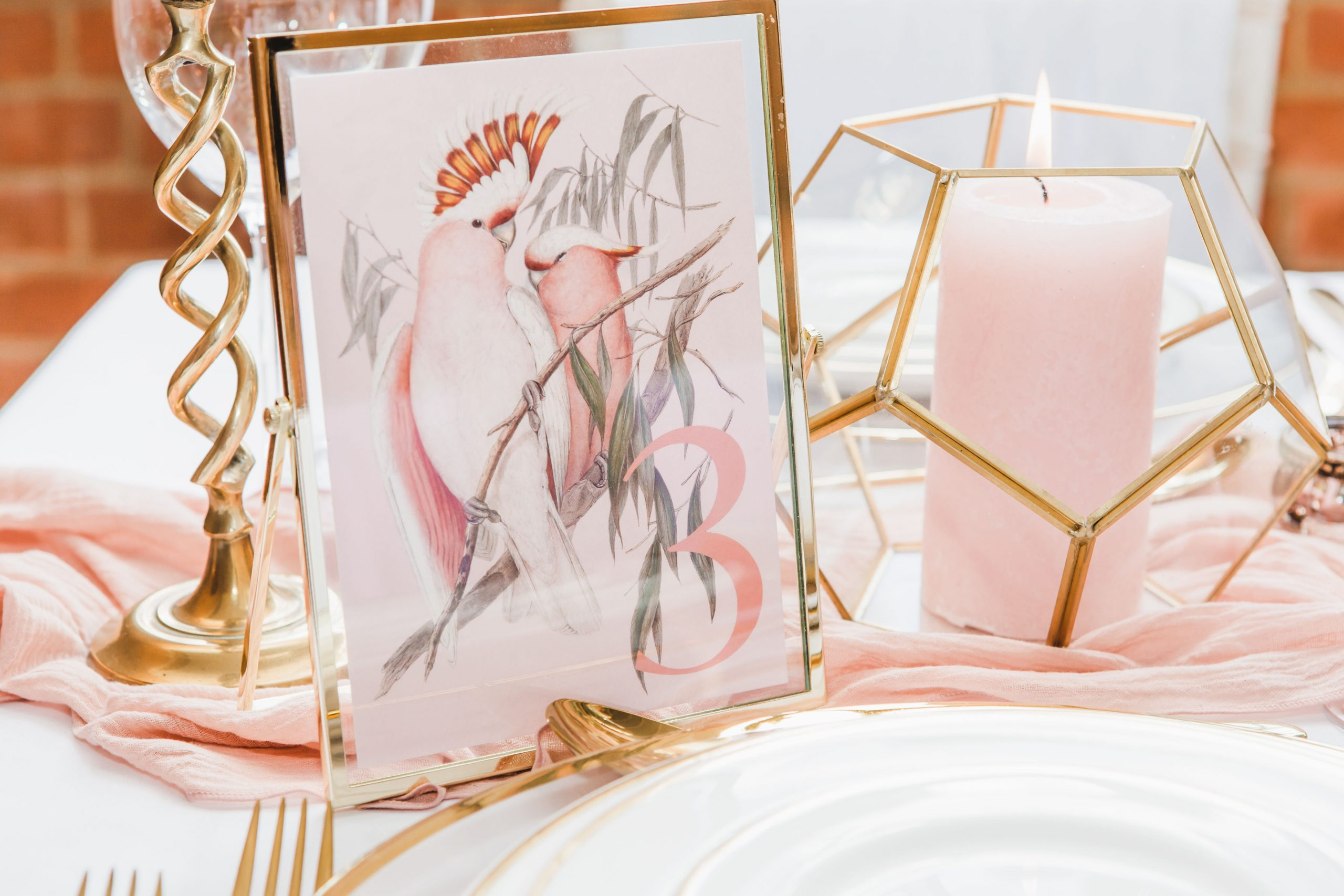 Spring Wedding Table Details | Flamboyant Invites