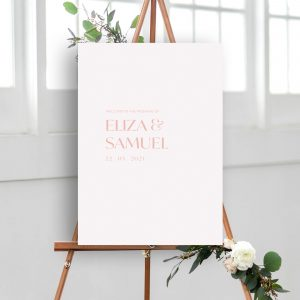 Love Birds Botanical Wedding Welcome Sign | Flamboyant Invites