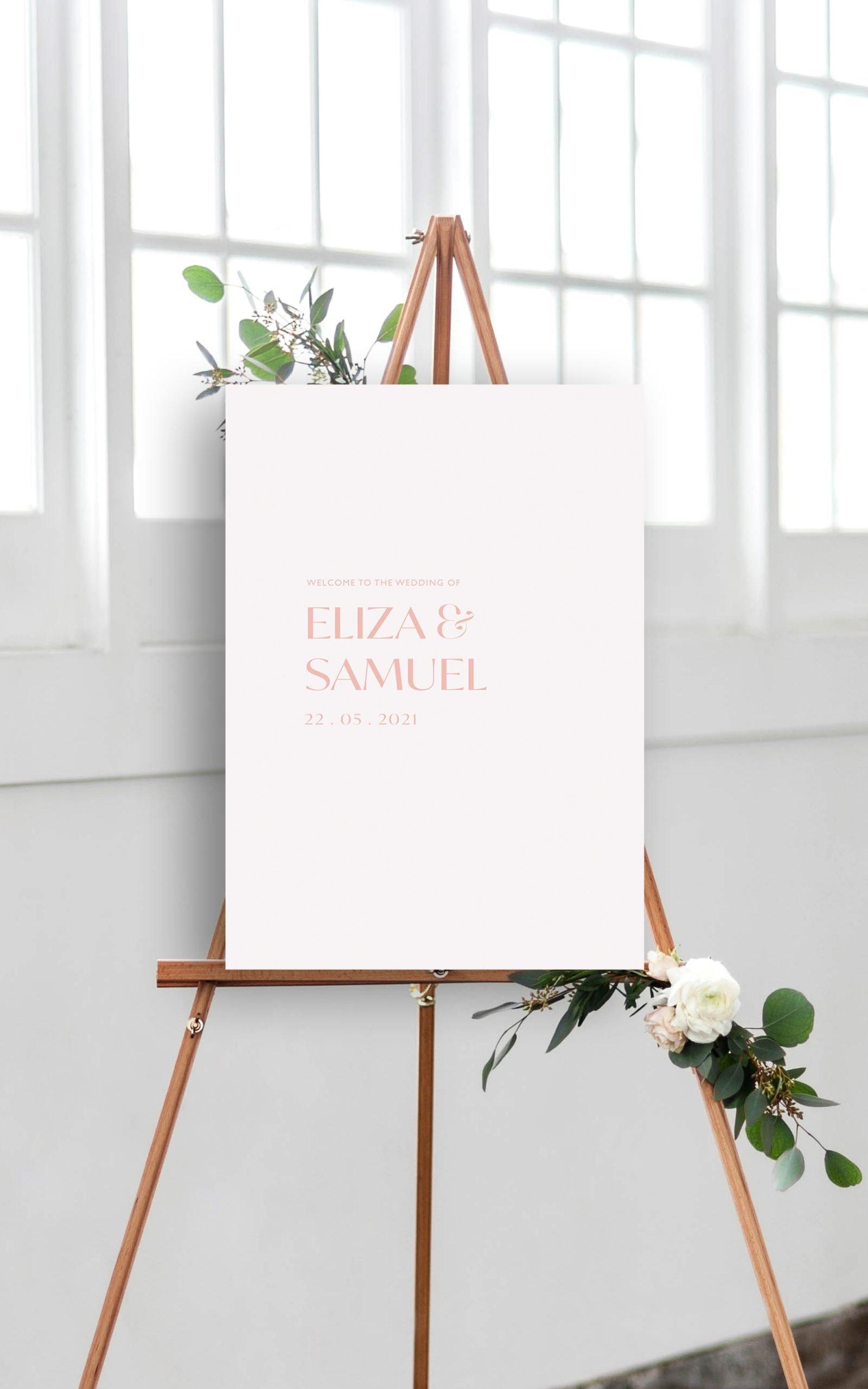 Love Birds Botanical Wedding Welcome Sign | Flamboyant Invites