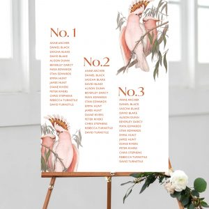 Love Birds Wedding Table Plan | Flamboyant Invites