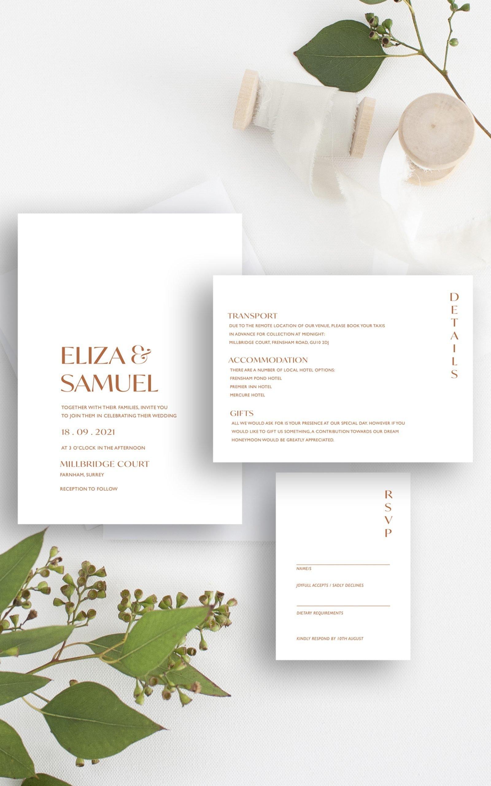 Love Birds Modern Botanical Wedding Invitation Suite | Flamboyant Invites