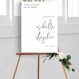 Minimo Minimalist Wedding Welcome Sign Black & White | Flamboyant Invites