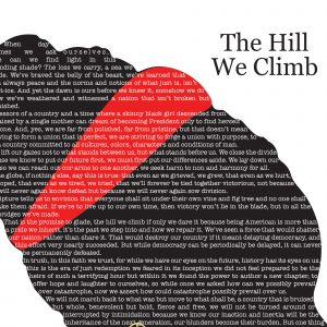 The Hill We Climb Fine Art Poetry Print
