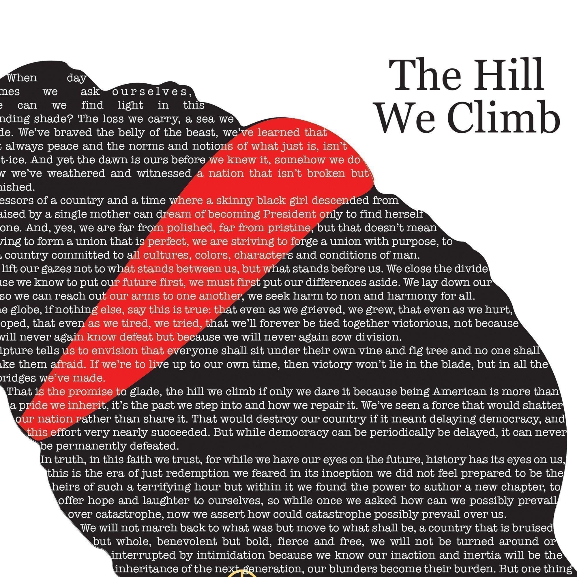 The Hill We Climb Fine Art Poetry Print