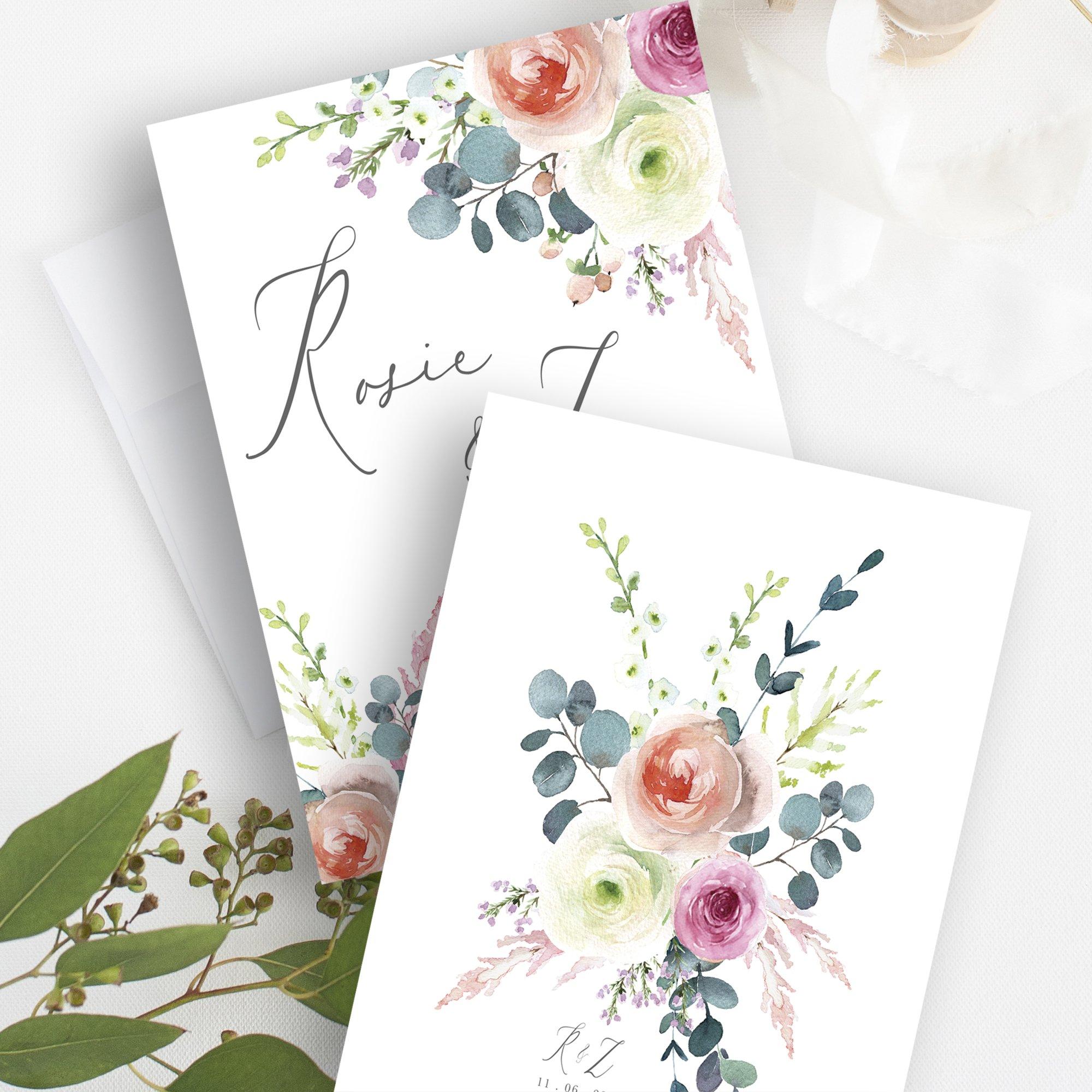 Bespoke Floral Wedding Stationery | Flamboyant Invites