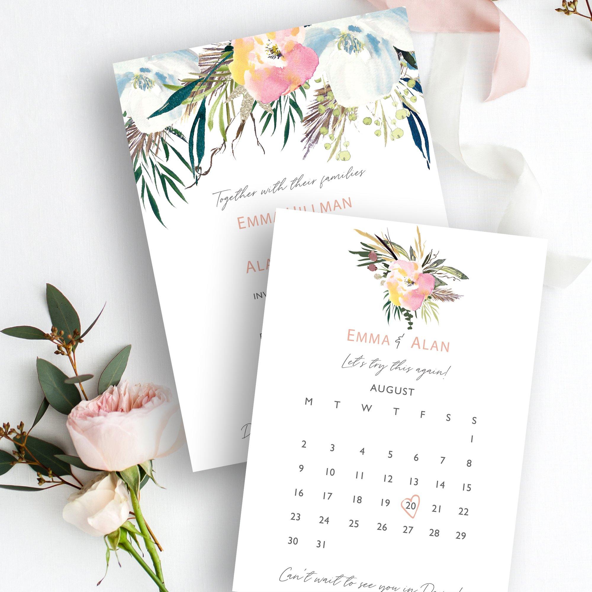 Summer Rose Wedding Stationery | Flamboyant Invites