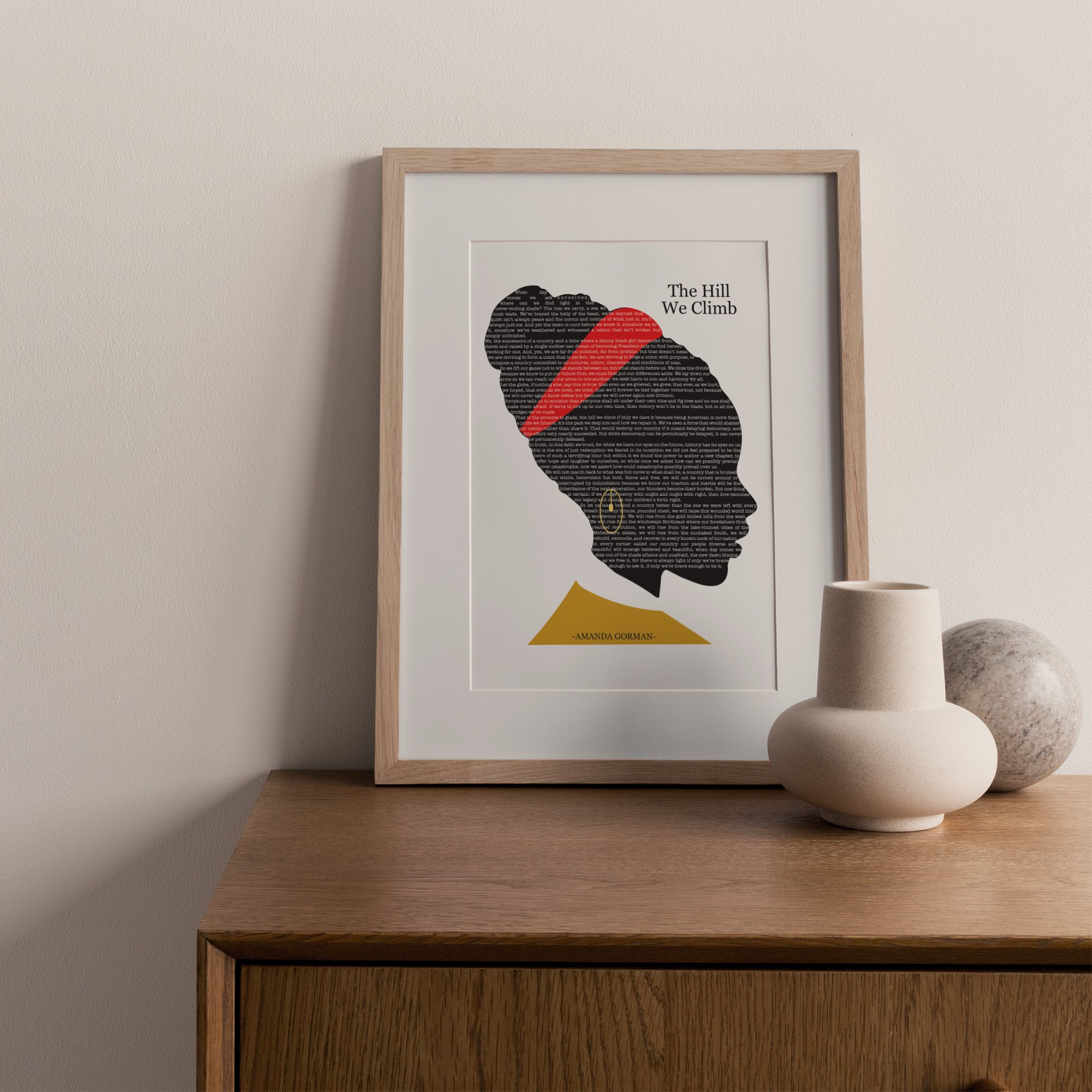 The Hill We Climb, Amanda Goreman Home Art Print   Flamboyant Invites