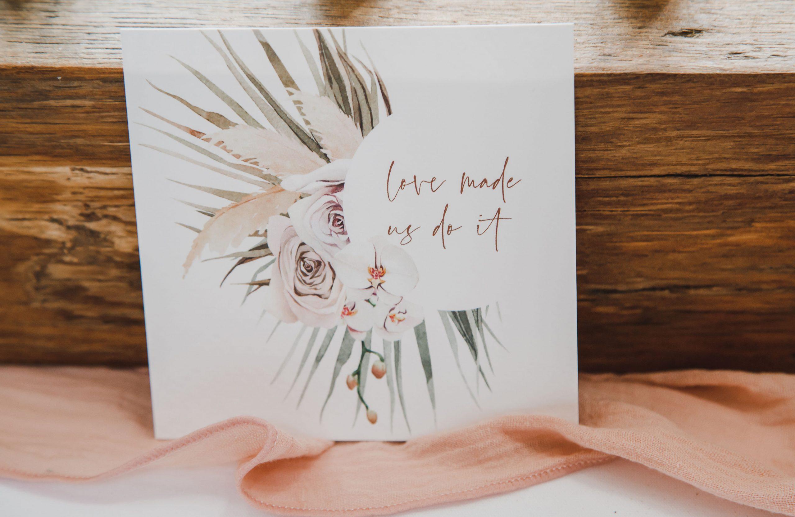 Pampas Grass Wedding Stationery ideas | Flamboyant Invites